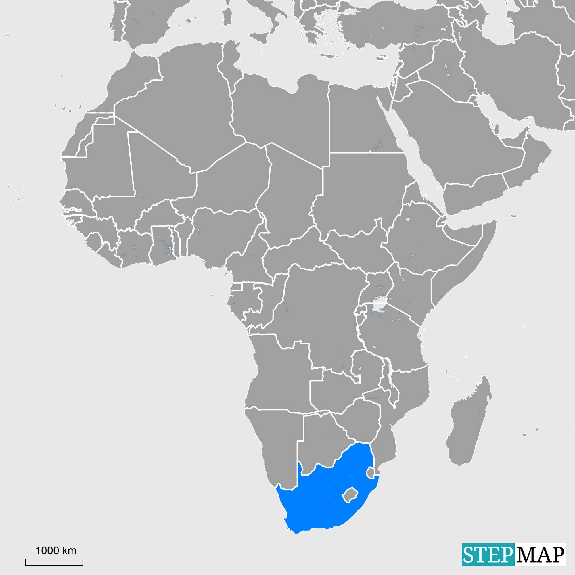 map of africa placements